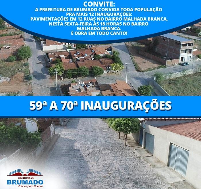 Prefeitura de Brumado chega a 70ª inauguração do ano de 2019