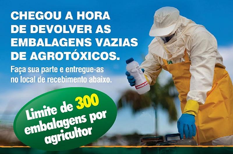 Brumado: Agricultores poderão devolver embalagens de agrotóxicos vazias com segurança