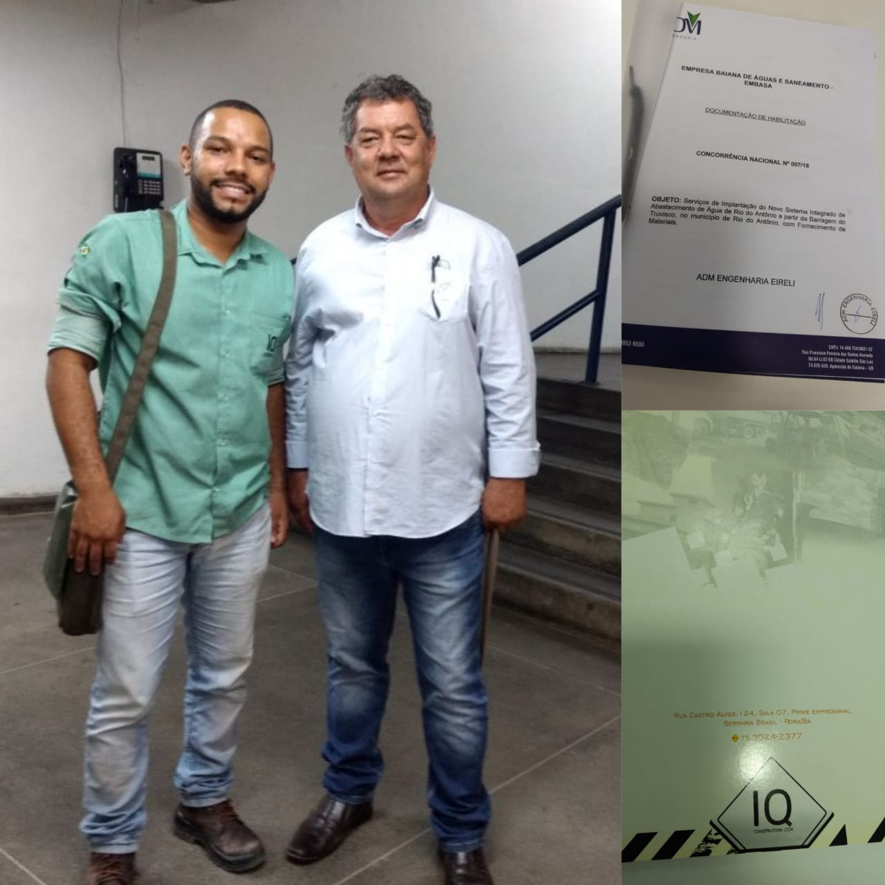 Prefeito Deca acompanha processo de licitação onde a ADM Engenharia foi a vencedora para construir adutora do Truvisco; obras de saneamento também serão retomadas
