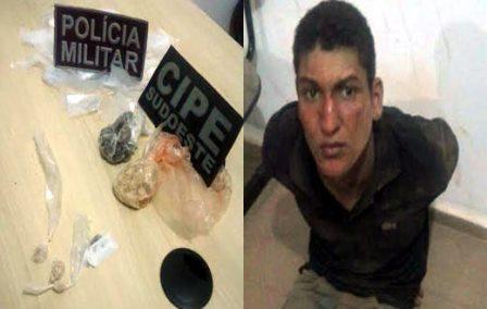 Em operação conjunta CIPE/SUDOESTE e Policia Militar traficante é preso