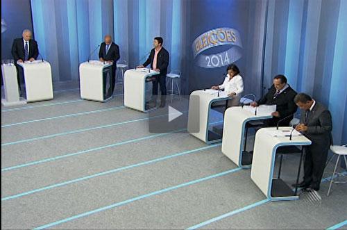 Candidatos ao governo confrontam propostas em debate