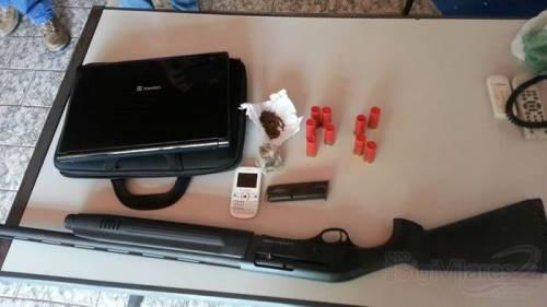 Santa Maria da Vitória: Cigano é preso com arma, munições e drogas