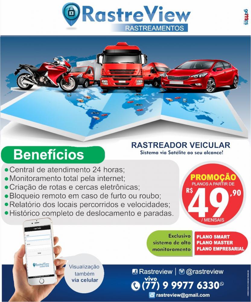 Solicite os serviços da Rastre View e tenha seu veículo monitorado 24 horas