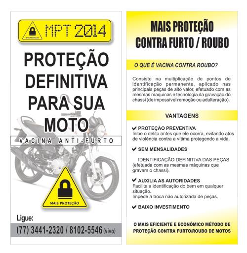 Proteja a sua moto contra roubos e furtos