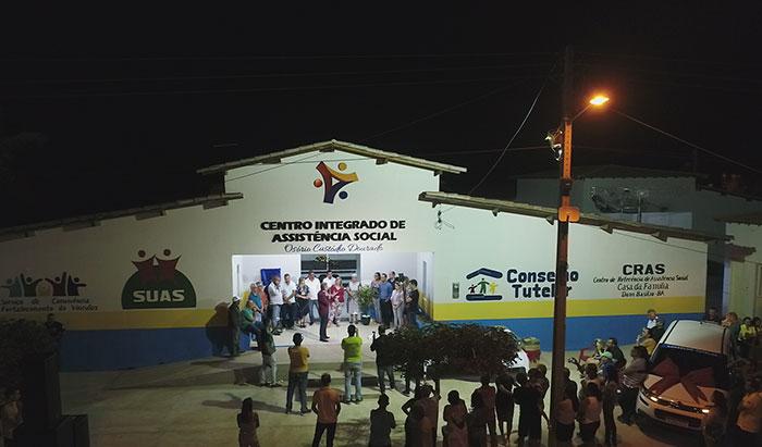 Primeiro Centro Integrado de Assistência Social é inaugurado em Dom Basílio; veja o vídeo