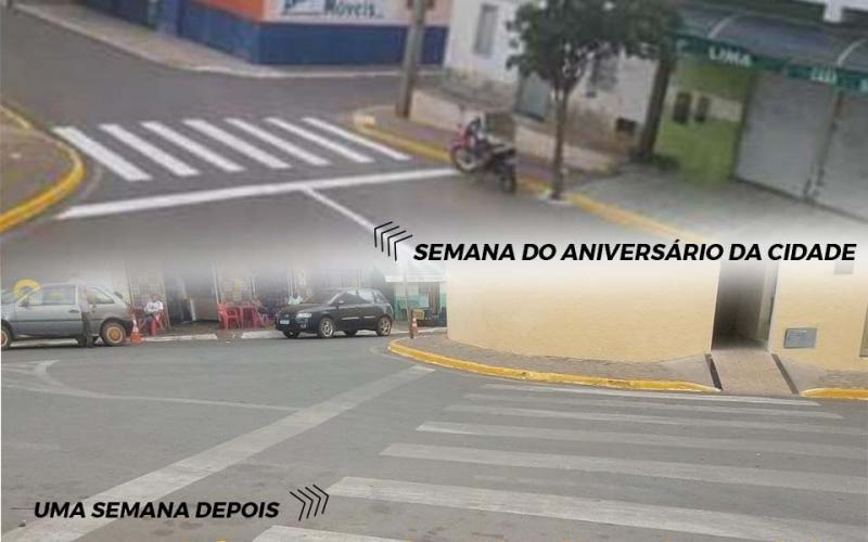 Prefeitura de Maetinga notifica empresa por má qualidade nos serviços de pinturas de Faixa de Pedestres