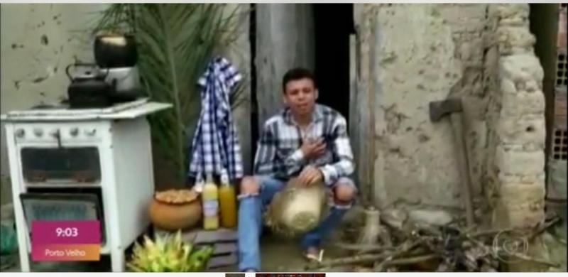 Estudante de Jaguarari expressa saudade do São João e vídeo do cordel é exibido no Encontro com Fátima Bernardes