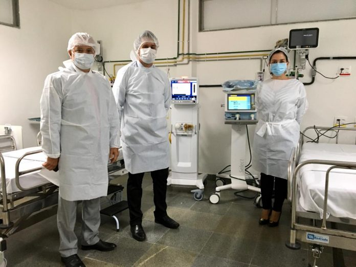 Covid-19: Hospitais da Chapada e Sudoeste recebem respiradores para novos leitos de UTI