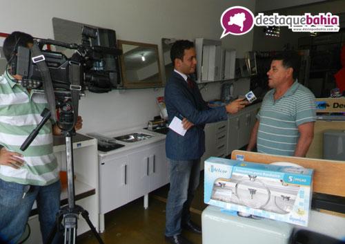 Tv Sudoeste afiliada da Rede Globo faz matéria com comerciantes