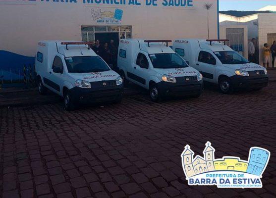 Prefeitura de Barra da Estiva adquire novas ambulâncias e anuncia obras de calçamento no bairro Alto Alegre