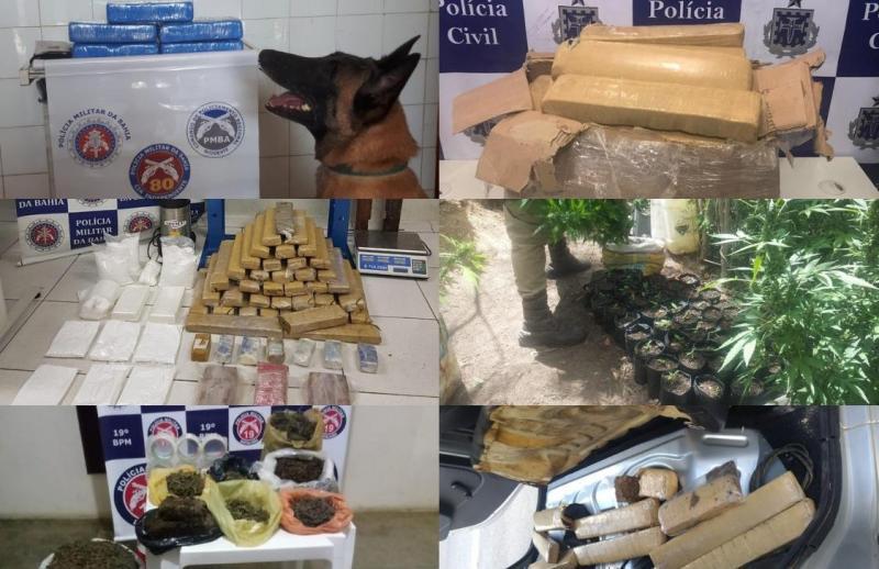 Em 5 dias polícia baiana apreende 212 kg de entorpecentes