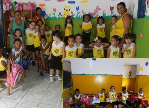 Escola São Tarcísio, primeiros dias de aula e a criançada já estão à vontade