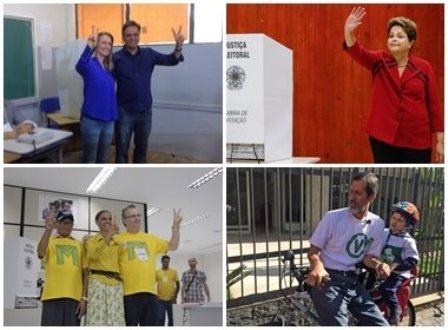 Candidatos a presidência votam na manhã deste domingo; Eduardo Jorge chega à seção de bicicleta