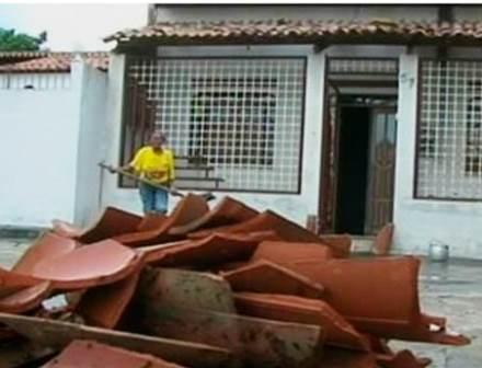 Chuva de granizo assusta moradores