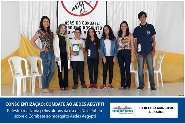 Brumado: Palestra sobre Combate ao Aedes Aegypti é realizada por alunos da Escola Municipal Nice Publio