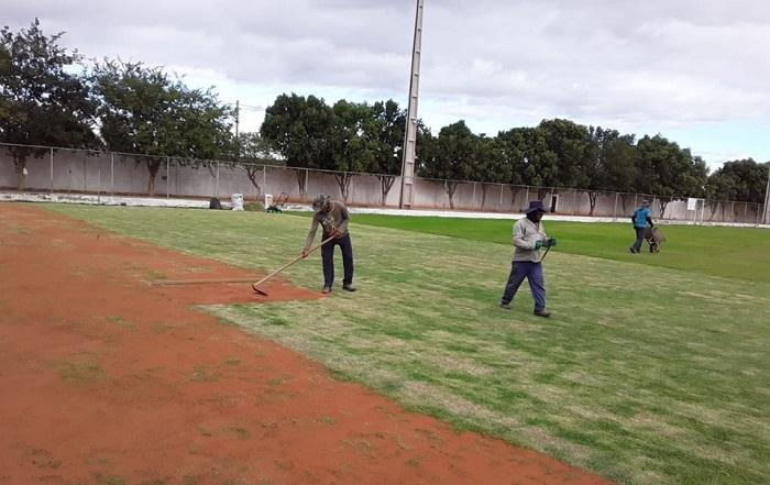 Malhada de Pedras: Estádio Minhocão recebe obras de restruturação