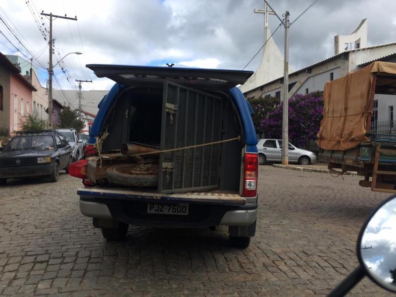 Polícia Militar apreende motocicleta com chassi suprimido em Aracatu
