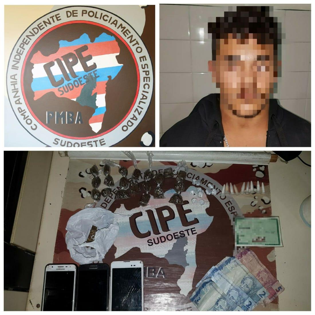 Suspeitos de tráfico de drogas são presos em Jânio Quadros