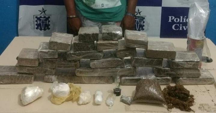 Draco apreende 100 mil reais em cocaína e maconha em Feira de Santana