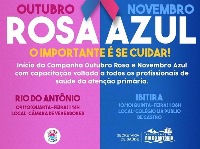 Rio do Antônio abre a Campanha Outubro Rosa e Novembro Azul