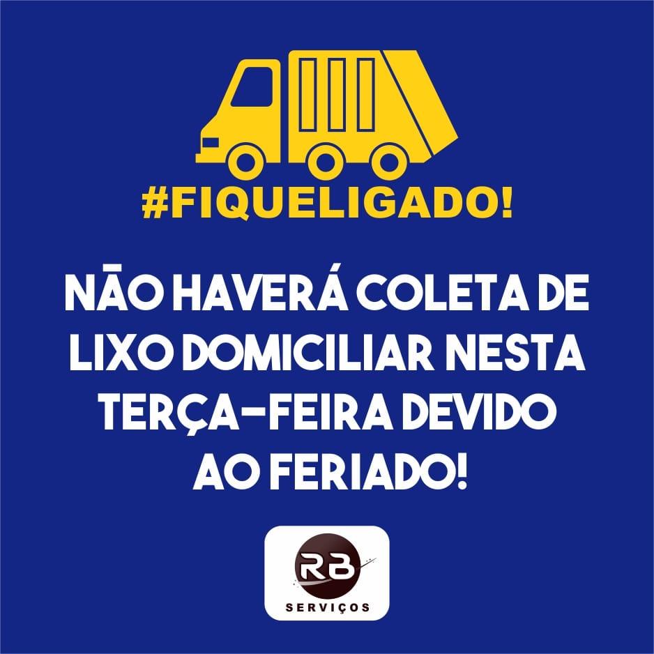 Brumado: RB Serviços informa que não haverá coleta de lixo nesta terça-feira