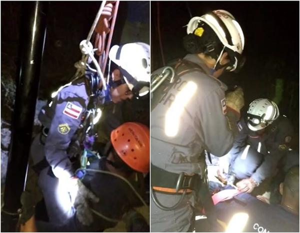 Vitória da Conquista: Homem cai em cisterna, sobrevive e é resgatado pelo Corpo de Bombeiros