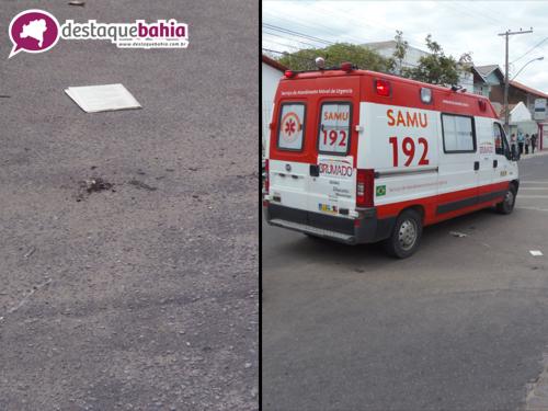 Acidente envolvendo duas motos deixa mulher ferida na Avenida Guilherme Dias