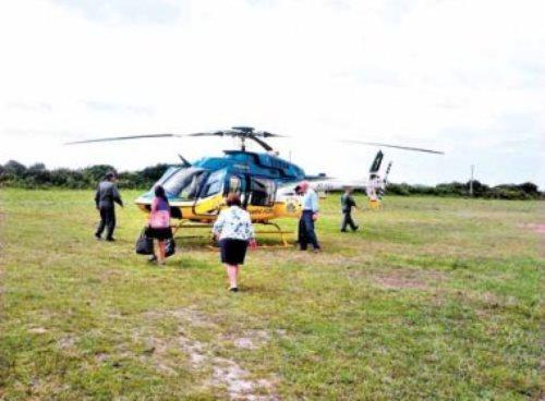 Pré-candidata, ministra Ideli utiliza helicóptero do Samu para cumprir agendas em seu estado