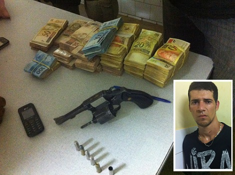 Polícia Militar frustra roubo a mão armada e prende bandido em flagrante