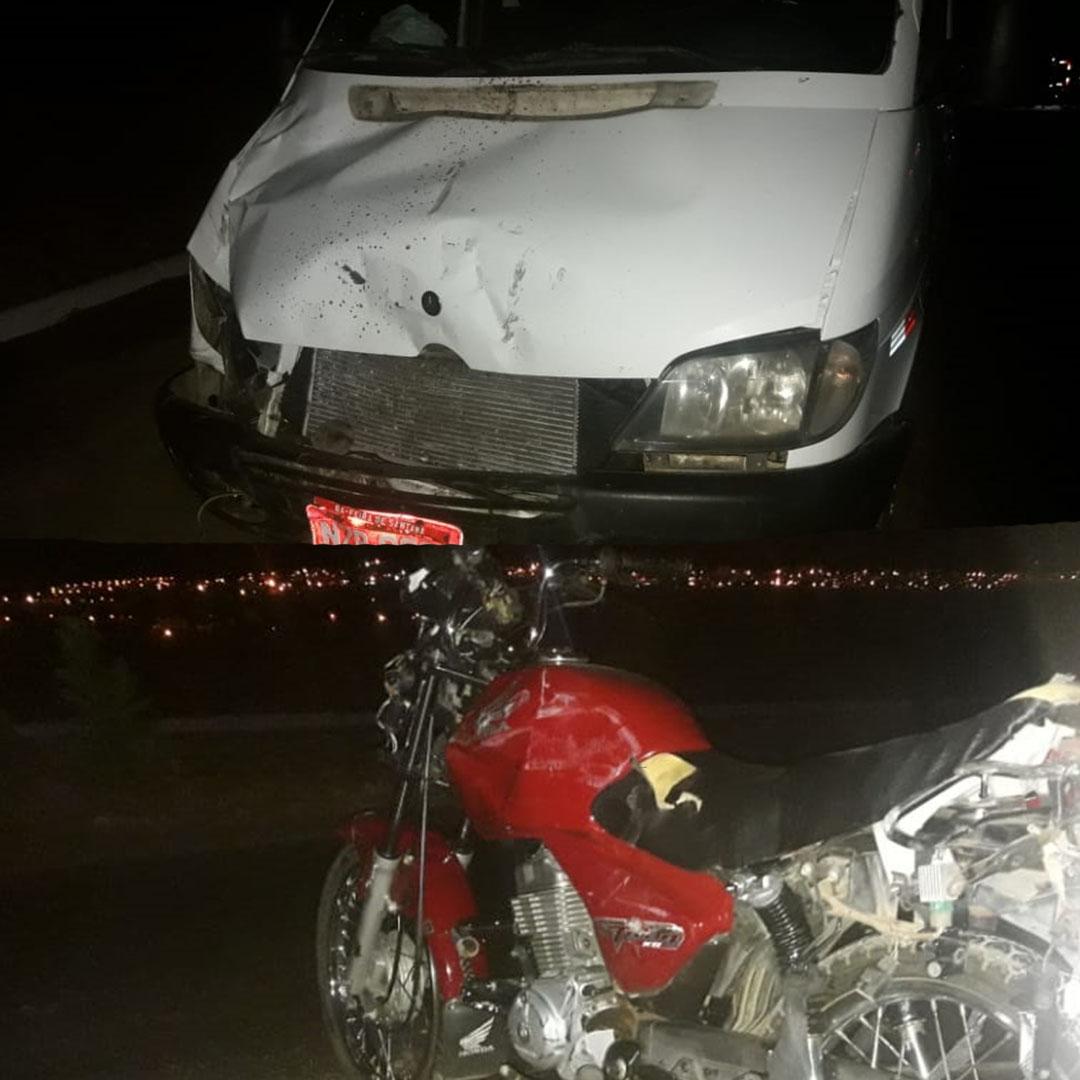 Colisão entre Van e motocicleta deixa uma vítima fatal em Brumado