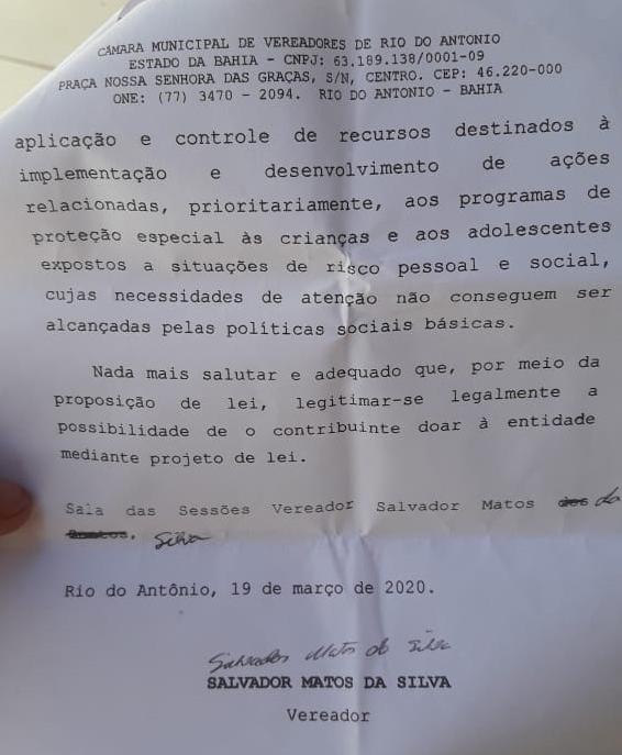 Rio do Antônio: Projeto de Lei que solicita doação de 1% das empresas que ganharem  licitação é aprovado por unanimidade na Câmara