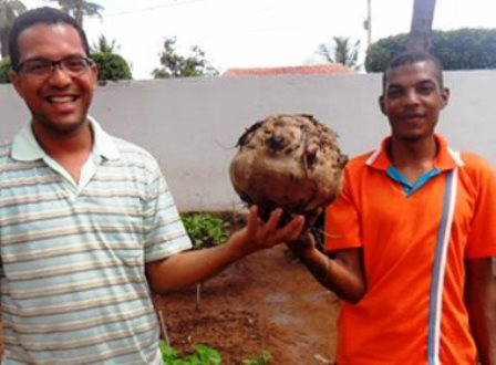 Marcionílio de Souza: Agricultora colhe beterraba de 5,7 kg