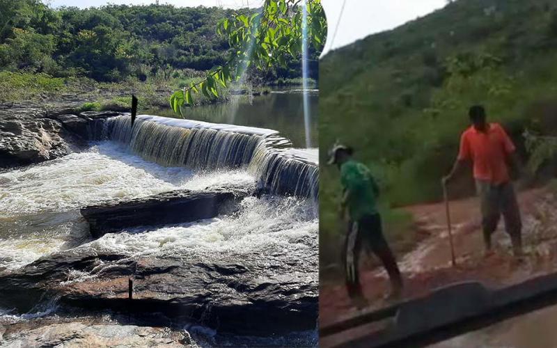 Mesmo com rios cheios e farta chuva, prefeito de Ituaçu decreta situação de Emergência por conta de Estiagem, população contesta nas redes sociais
