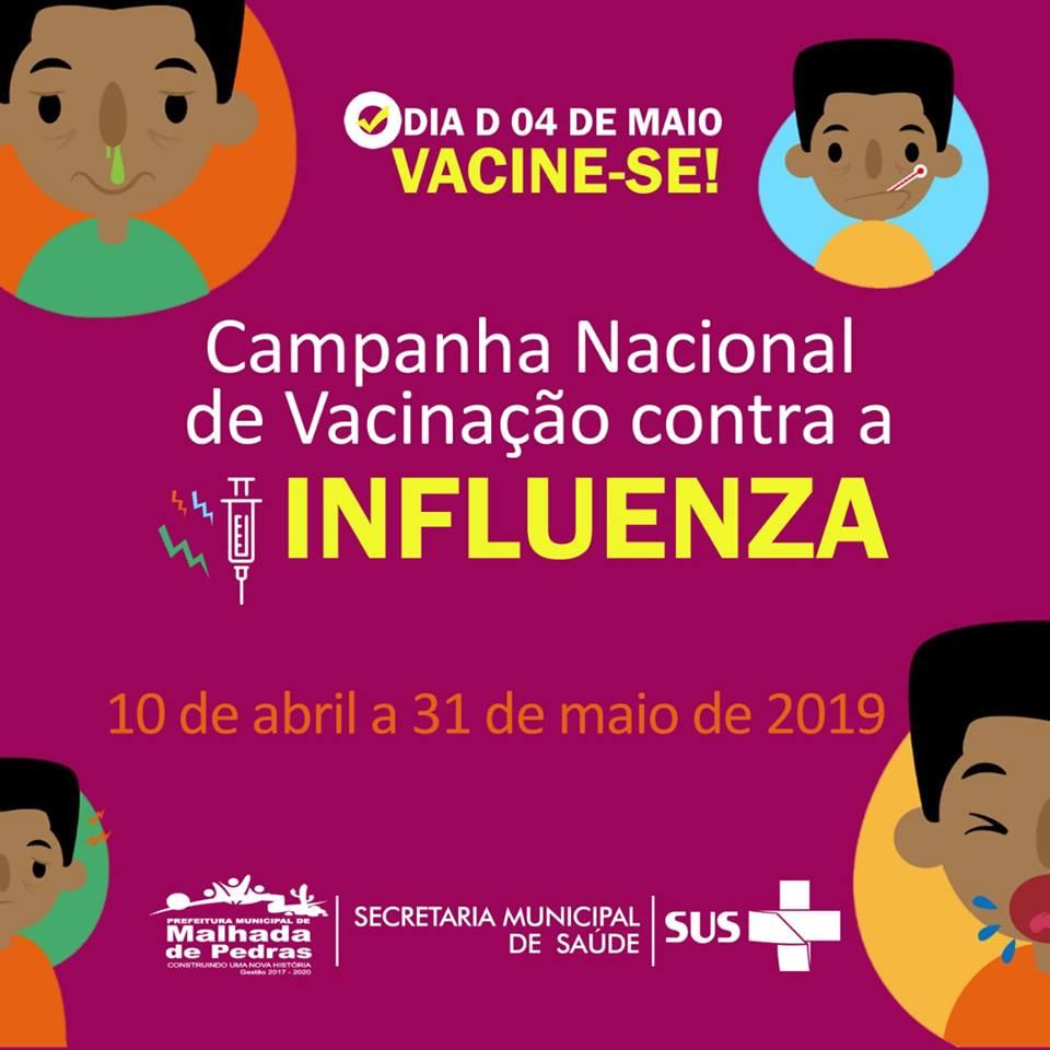 Secretaria de Saúde de Malhada de Pedras realiza Campanha para vacinação contra Influenza