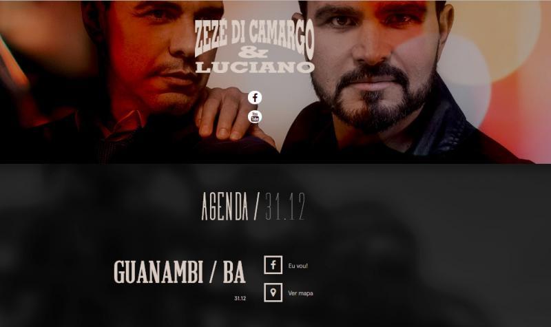 Réveillon de Guanambi contará com show de Zezé de Camargo e Luciano