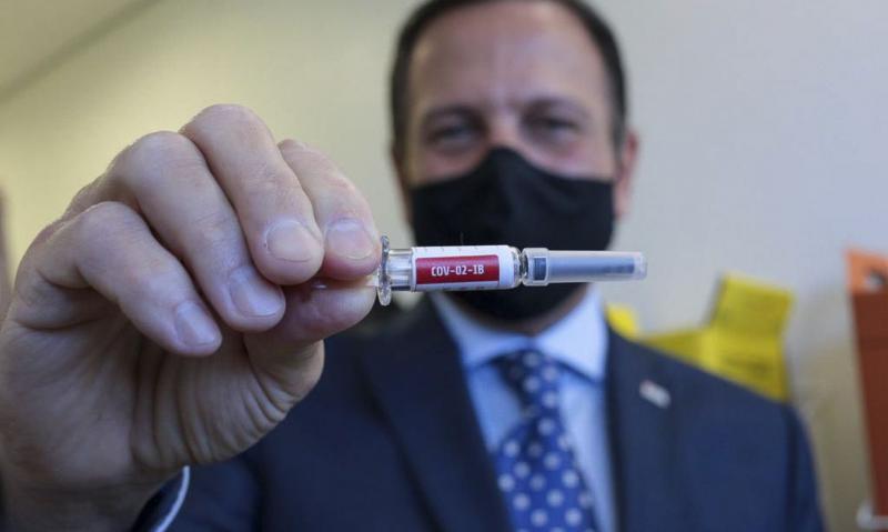 Covid-19: Vacinação em SP pode começar no dia 25 de janeiro