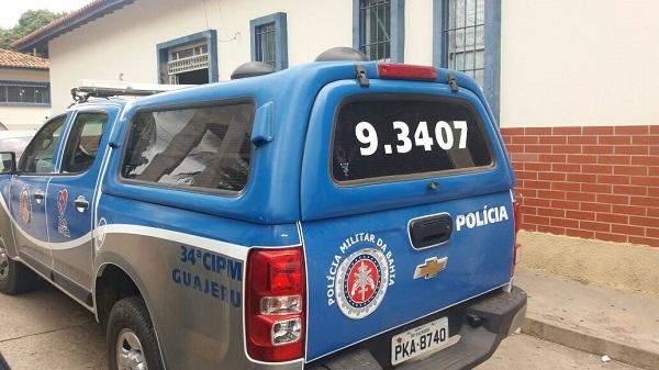 PM prende em flagrante homem acusado de estuprar adolescente na fazenda Olaria em Guajeru