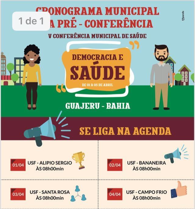 Eventos antecedem V Conferência Municipal de Saúde que será realizada em Guajeru