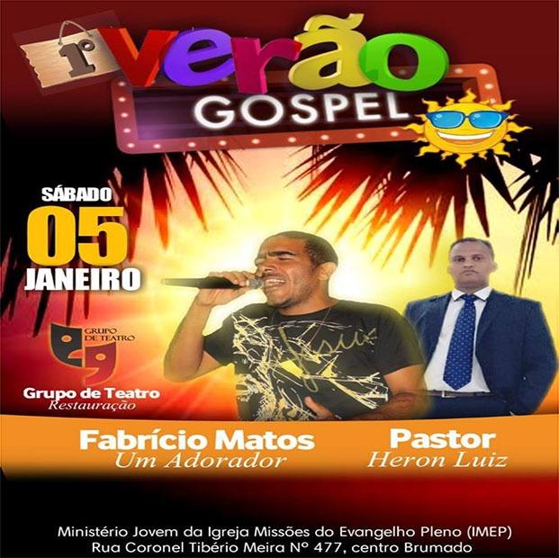 Igreja Missões do Evangelho Pleno realizará 1º Verão Gospel neste sábado em Brumado