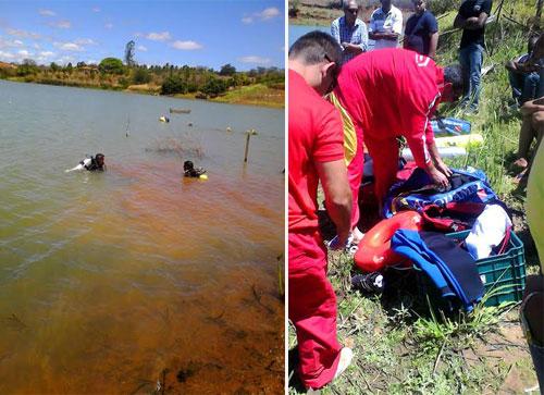 Bombeiros resgatam corpo de homem na represa do Comocoxico