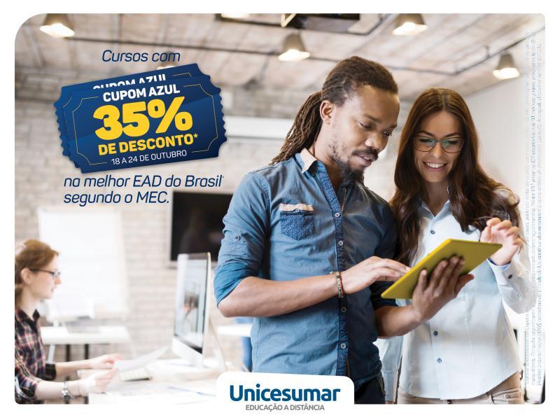 Unicesumar lança campanha Cupom Azul, com descontos incríveis em diversos cursos; confira