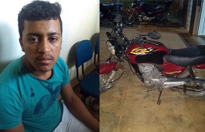 Homem é preso em Érico Cardoso por furto de motocicleta