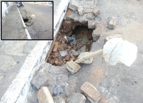 'parece que houve um terremoto', diz brumadense a respeito de buracos nas ruas