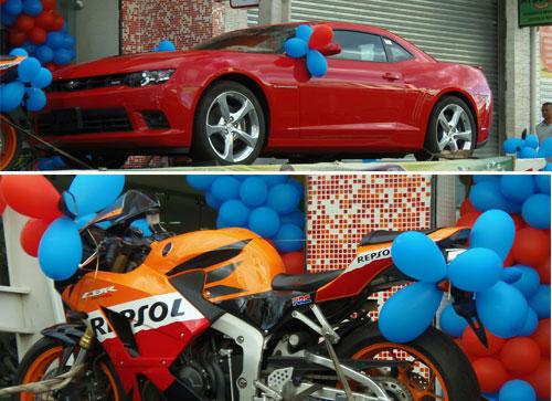 Acelere sua sorte, um  Camaro e uma super moto Repsol podem ir para a sua garagem
