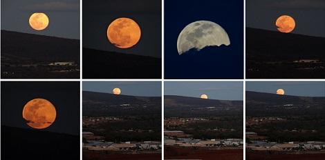 Brumadense registra imagens impressionantes da 'Superlua'
