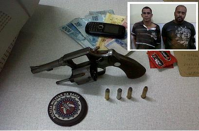 Criminalidade em queda livre, dois homens são presos após tentativa de assalto