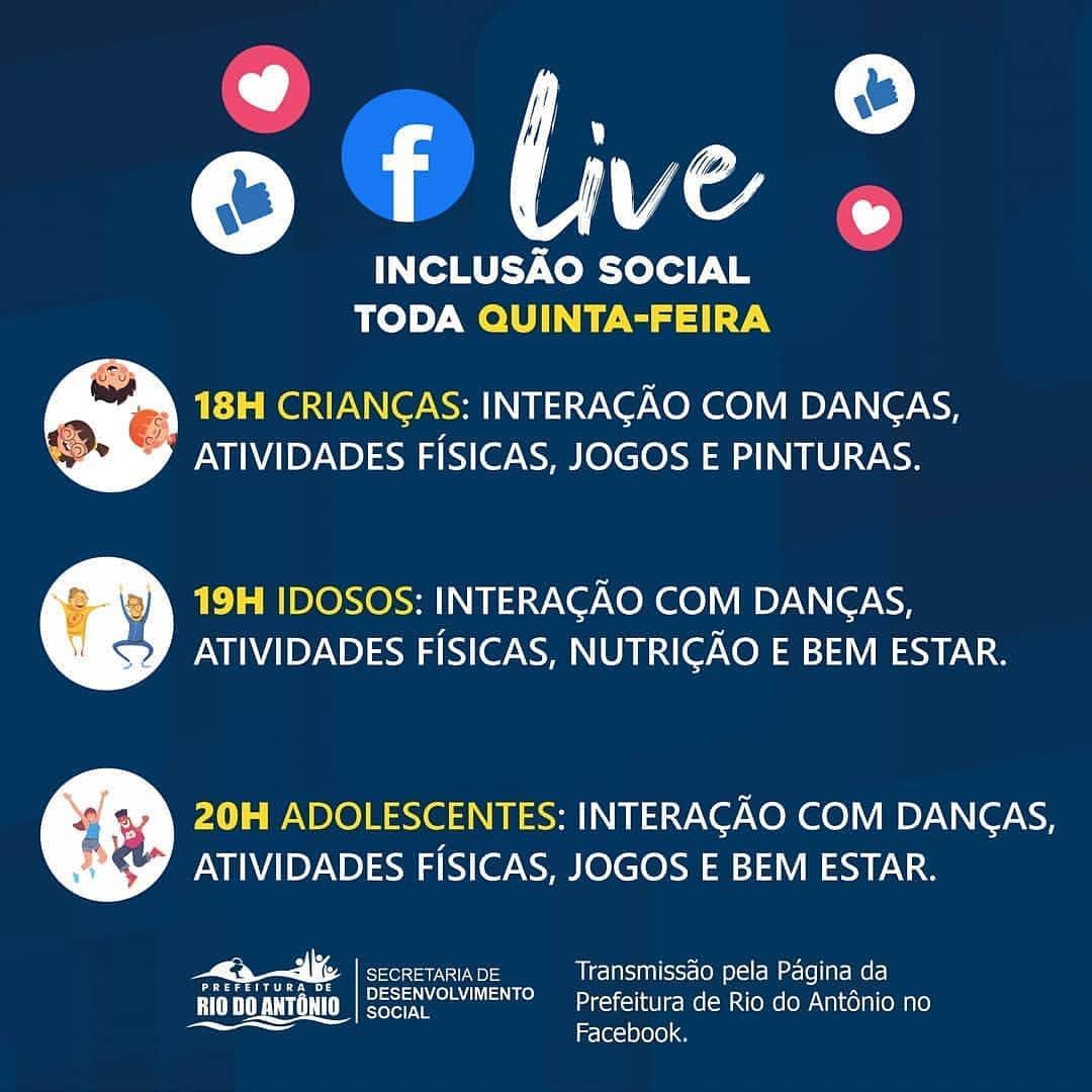 Rio do Antônio: Lives interativas promoverão a inclusão social de idosos, crianças e adolescentes