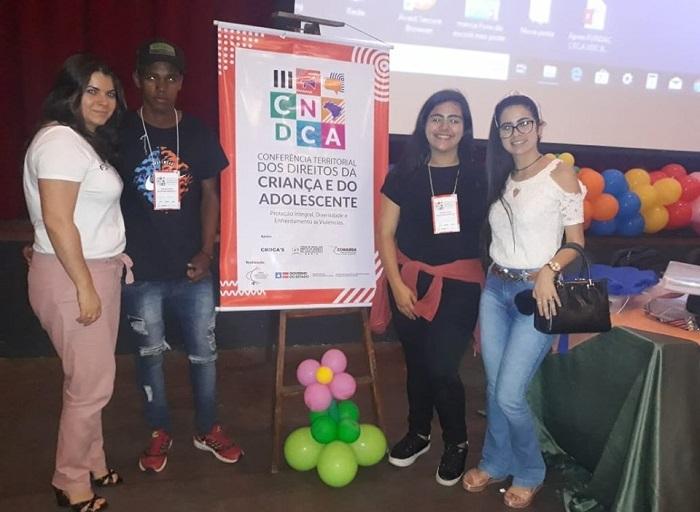 Representantes de Aracatu participaram da III Conferência Territorial dos Direitos da Criança e do Adolescente em Vitoria da Conquista
