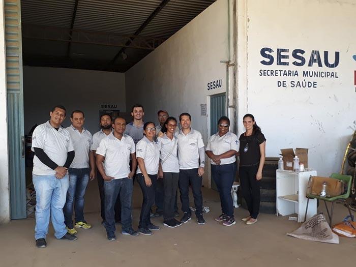 Equipes da SESAU de Brumado passam por treinamento teórico e prático visando a campanha de vacinação contra raiva em cães e gatos