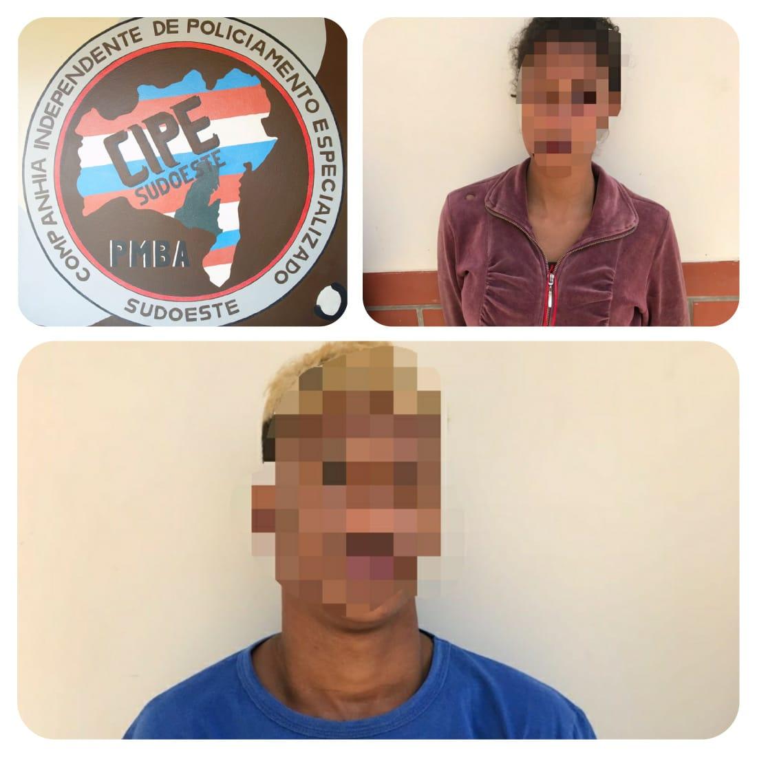 Uma pessoa é presa e dois menores apreendidos por tráfico de drogas em Aracatu